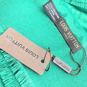 Louis Vuitton Green Monogram Shawl